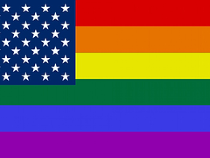 AMC US rainbow flag