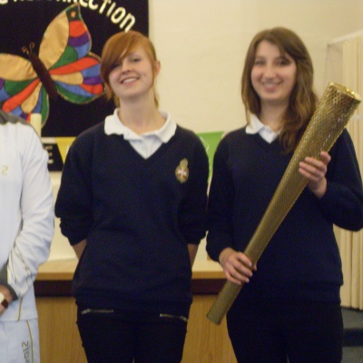 Claire Starr & Olympic Torch